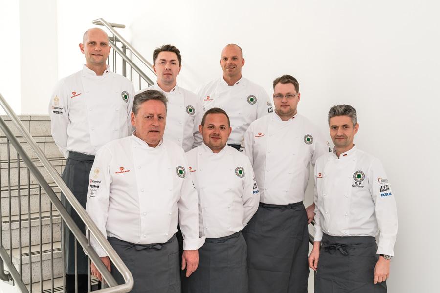 Die Mitglieder der deutschen Köche-Nationalmannschaft