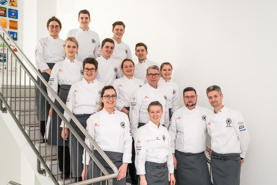 Die Mitglieder der deutschen Köche-Jugendnationalmannschaft