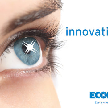 Ecolab Auge Sparkle Schrift Logo