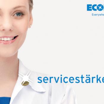 Ecolab Frau Sparkle Schrift M Logo