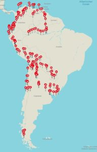 Quer durch Südamerika: Magdalena Kochs Reiseroute