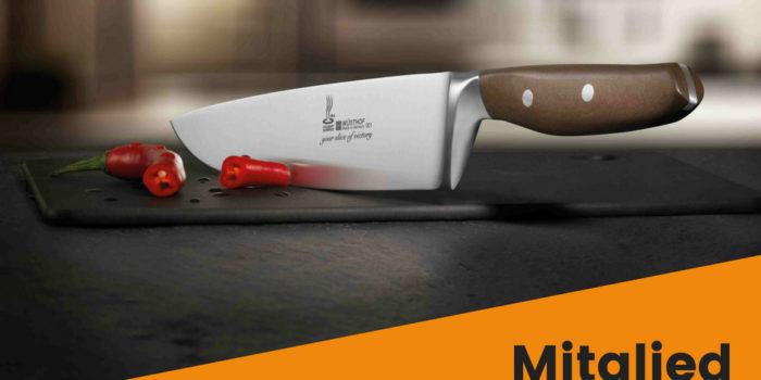 Online Mitglied werden und Messer erhalten
