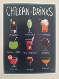 Auch die chilenische Getränkekarte bietet Vielfalt. Foto: Privat.
