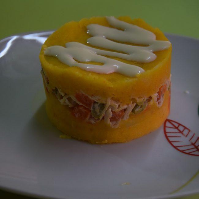 Causa Limena ist ein vegetarisches Gericht. Foto: Privat