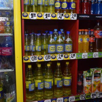 Achtung, Zucker: die neongelbe Inca-Kola ist ein peruanisches Erfrischungsgetränk. Foto: Privat