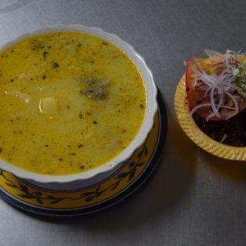 Lecker für kalte Tage: Yaguarlocro ist ein Kartoffeleintopf mit Innereien zu dem Avocado und gestocktes Blut serviert werden. Foto: Privat