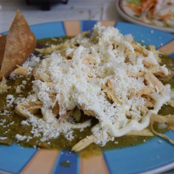 Selbst das Frühstück ist in Mexico scharf: hier Chilaquiles. Foto: Privat