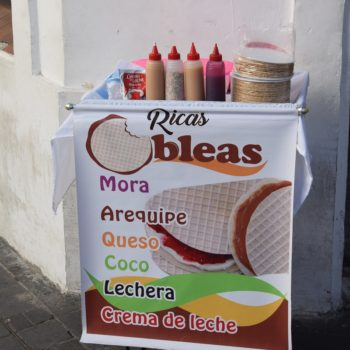 Süße Verführung: ein mobiler Stand mit Obleas. Foto: Privat