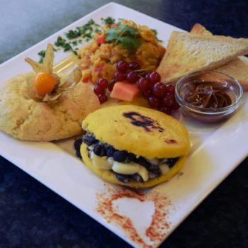 Ein bunt zusammengestelltes südamerikanisches Frühstück. Foto: Privat