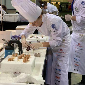 Letzte Vorbereitungen für die Culinary Arts-Präsentation von Team Germany. Foto: VKD