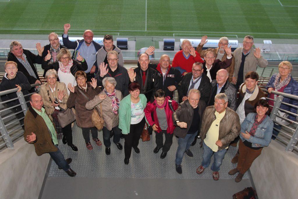 Vereinsexkursion bei RedBull Leipzig mit spannenden Einblicken in die dortige Gastronomie und das Stadion.
