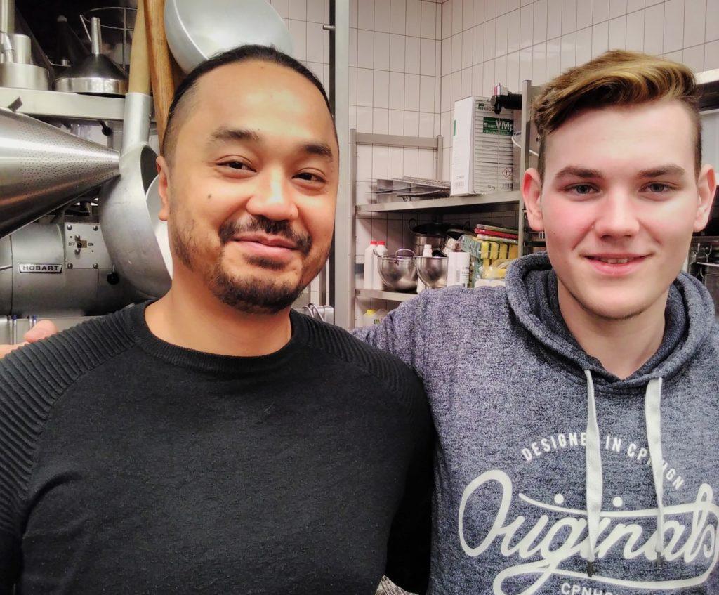 Warinkorn Jongboriboon (links) und Marlon Trittler. Foto: Louise-Schroeder-Schule