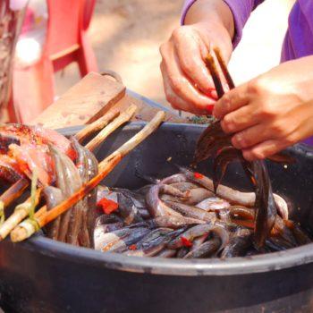 Eine für Kamdoscha typische Art, Fisch und Fleisch zu garen. Foto: Privat