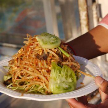 Papayasalat findet man in Kambodscha genauso wie in Vietnam und Thailand. Foto: Privat