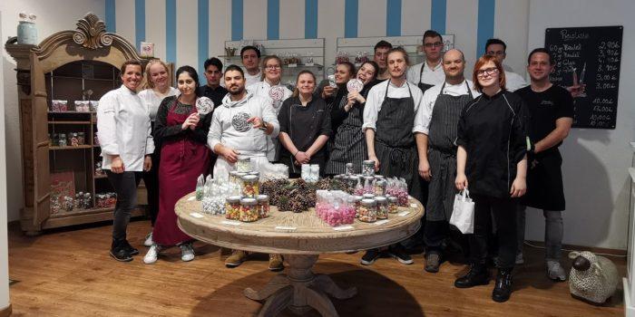 Münsteraner besuchen Bonbon-Fabrik