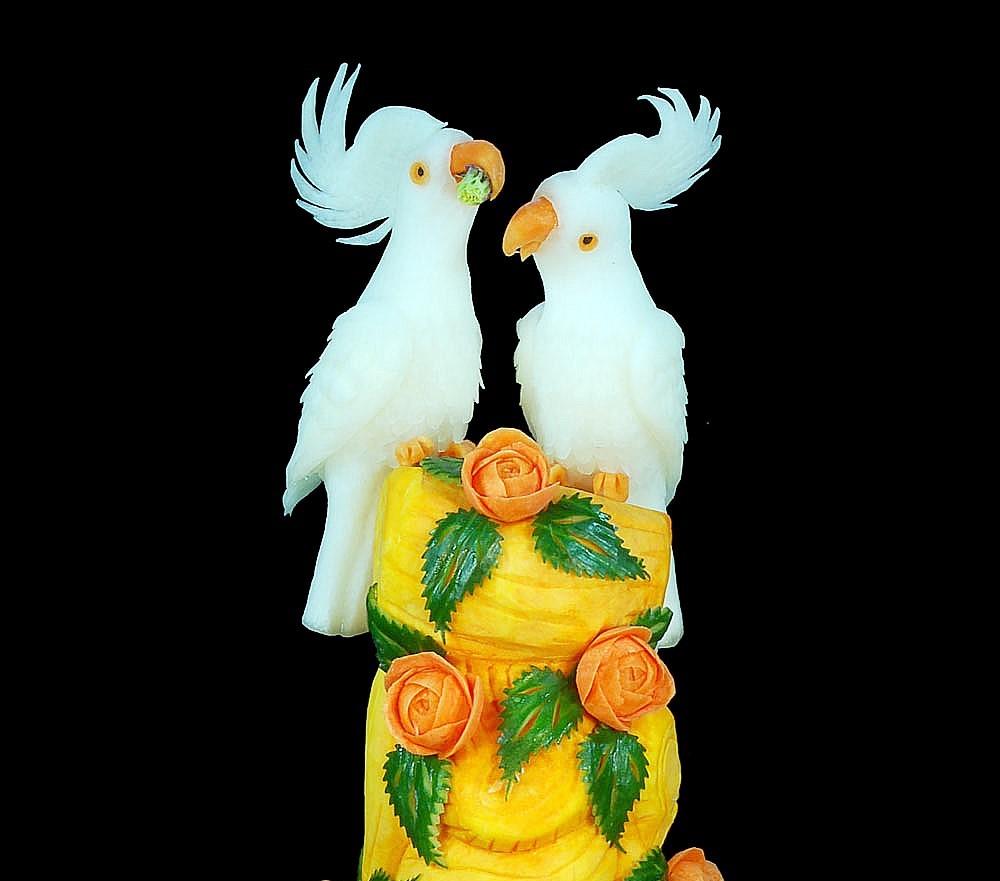 Gemüse- und Früchteschnitzseminare von Meisterhand