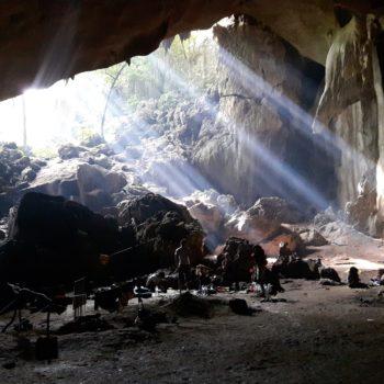 In seiner Zeit in Malaysia hat Bruno auch in einer Höhle übernachtet... Foto:Privat
