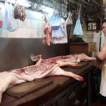 Andere Länder, andere Sitten: Metzger in Hong Kong. Foto: Privat