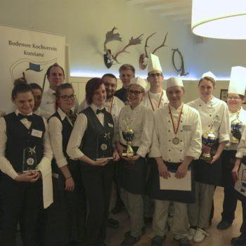 Aktivitäten für den Berufsnachwuchs: Teilnehmer des Franz-Reischmann-Pokals 2015. Foto: Bodensee-Kochverein Club der Köche e. V