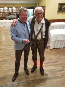 Alte Freunde: Patrick Lindner (l.) und Walter Tießler. Foto: Privat