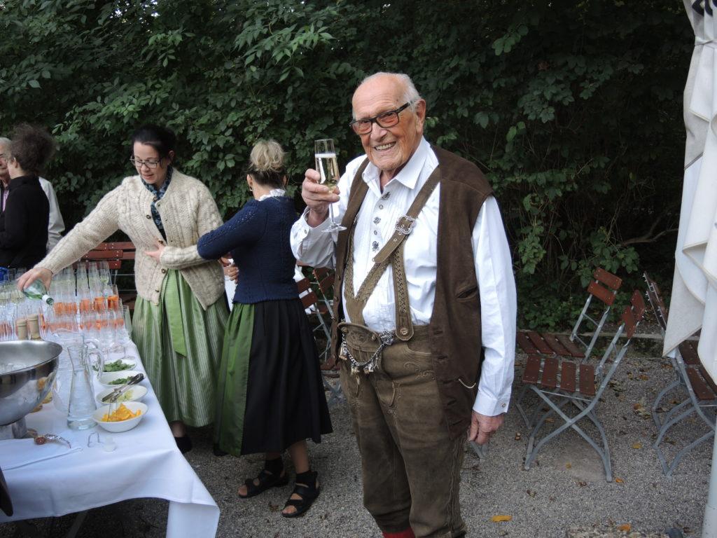 Prominenter Besuch bei 91. Geburtstag