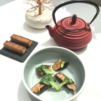 Foie Gras, Pac Choi, Consomme Double De Canard Infuse Au Saveur Thai