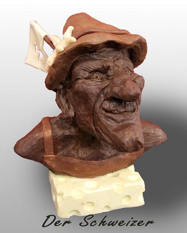 Schokoladen -Skulpturen