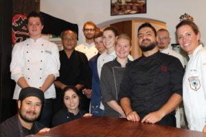 Begeisterte Teilnehmer beim Sushi-Seminar im Münsterland. Foto: Köcheclub Münsterland e. V.
