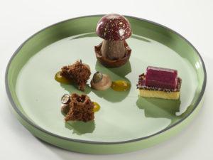 Dessert mit Pilz von Beat Stohler. Foto: HUG