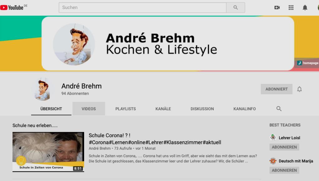 Der Video-Kanal des Lehrers André Brehm setzte während der Pandemie auf das Online-Klassenzimmer. Foto: Justus-von-Liebig-Schule