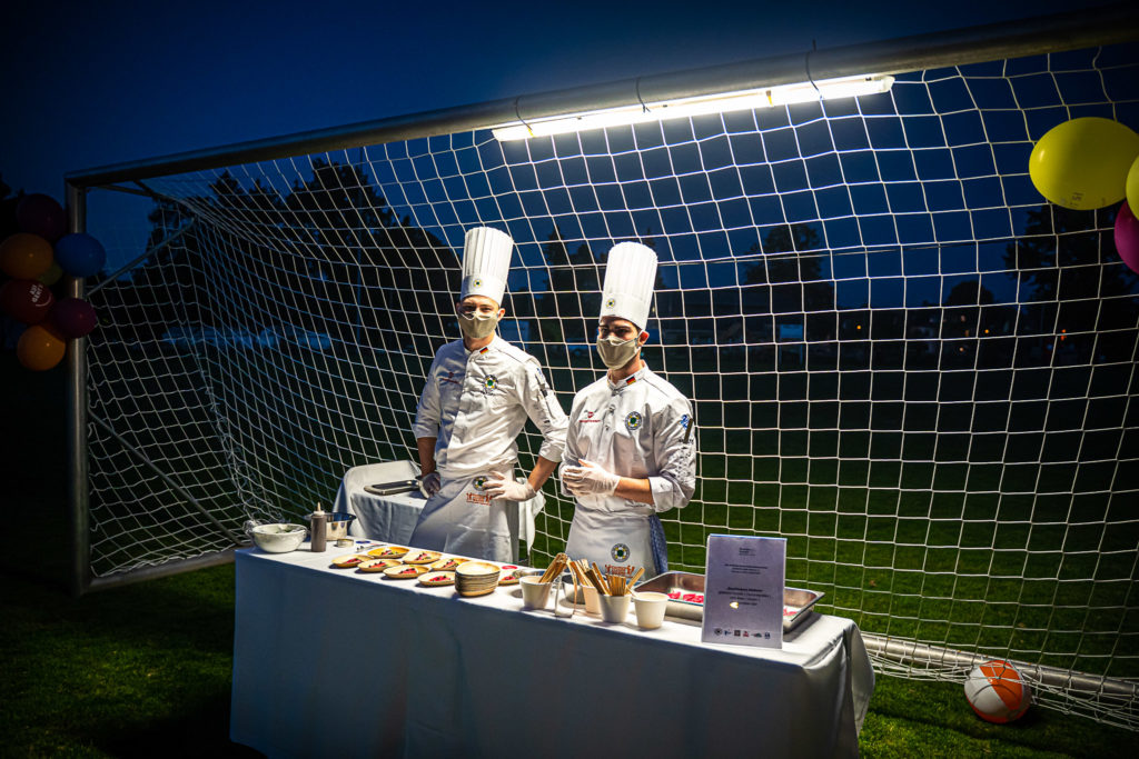 Besondere Atmosphäre für einen besonderen Anlass: Kochen in der Sportgaststätte. Foto: VKD/Leifstroemphotography