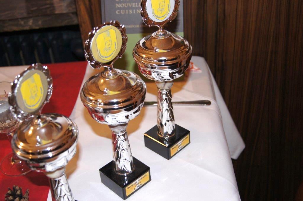 Pokale für den eigenen Wettbewerb Bergisch Culinäär.