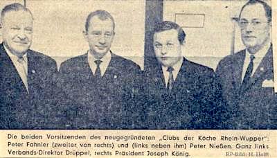 Gründungsvorstand von 1969