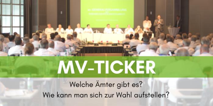 MV-Ticker: Ämter und Wahl