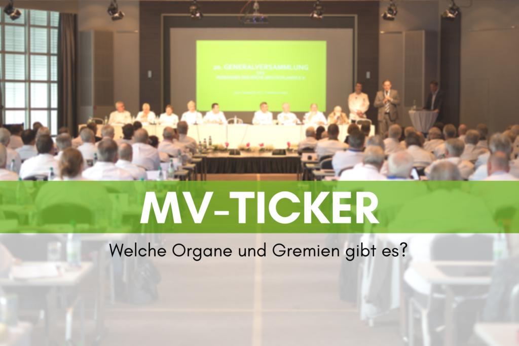 MV-Ticker: Organe und Gremien