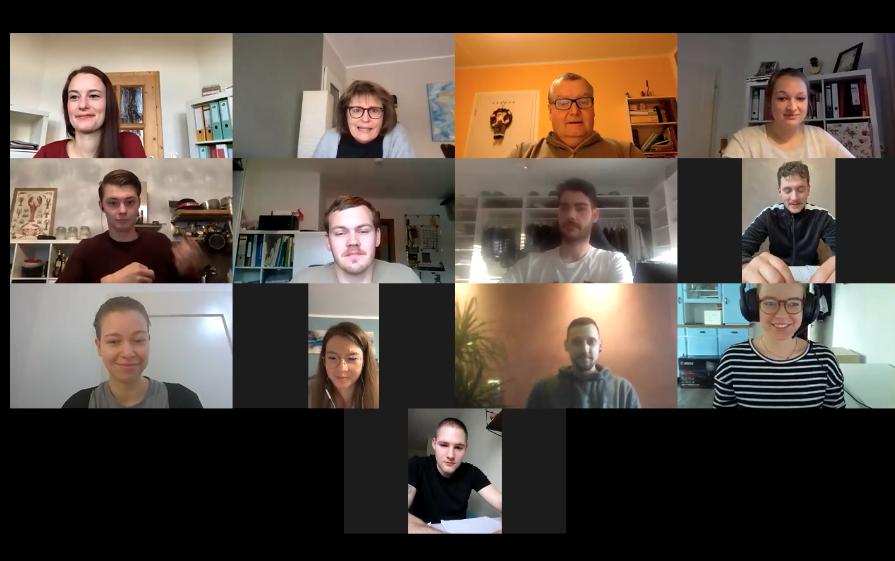 Mannschaft im Meeting-Modus