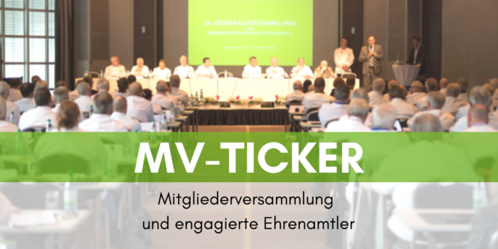 MV-Ticker: Mitgliederversammlung und engagierte Ehrenamtler