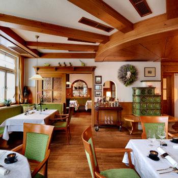 Franz Berlins Gourmetrestaurant Berlins Krone erhält erneut einen Stern vom Guide Michelin. Foto: Roman Knie