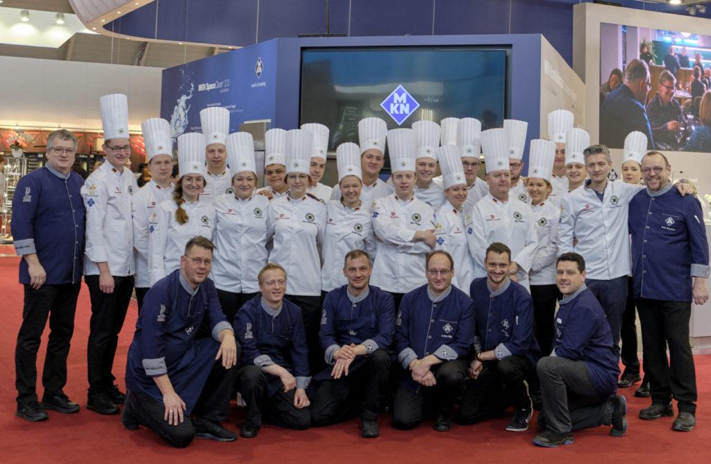 Mannschaften unter sich: Die Zusammenarbeit findet auf Veranstaltungen und hinter den Kulissen statt. Foto: IKA/Culinary Olympics