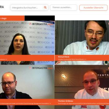 Vier Gäste sprachen bei VKD on Air über die Folgen von Corona auf den Kochberuf. Foto: Messe Stuttgart
