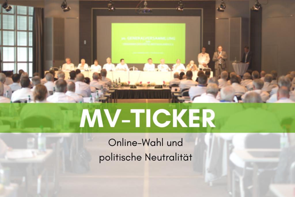 MV-Ticker: Online-Wahl und politische Neutralität