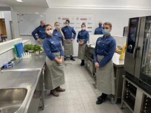 Beste Bedingungen nach der Modernisierung: In der BBS II Emden wurde die neue Küche bereits in Betrieb genommen. Foto: Berufsschule
