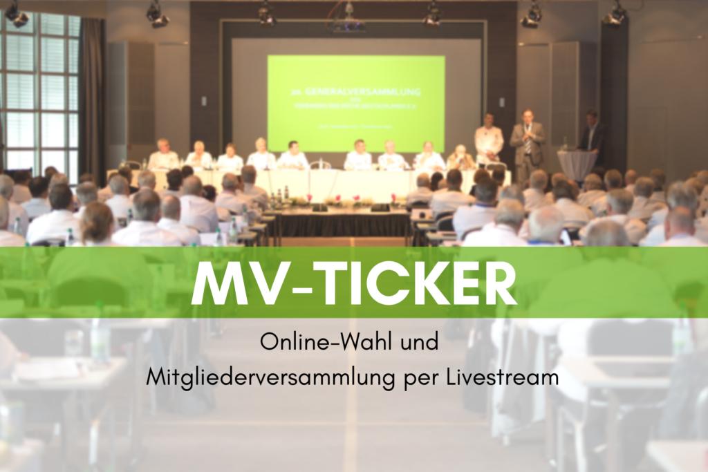 MV-Ticker: Online-Wahl und Versammlung per Livestream