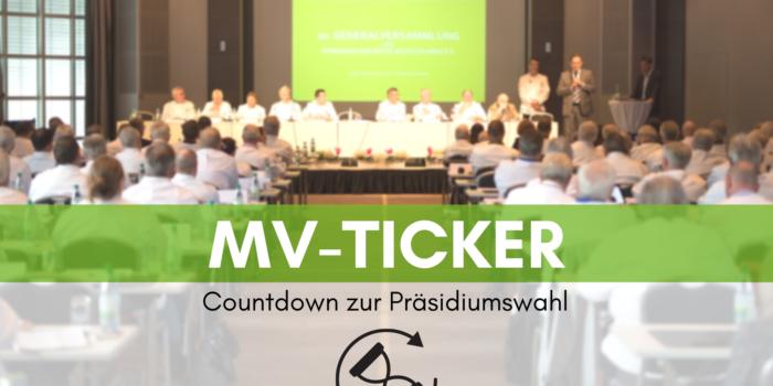 MV-Ticker: Countdown zur Präsidiumswahl