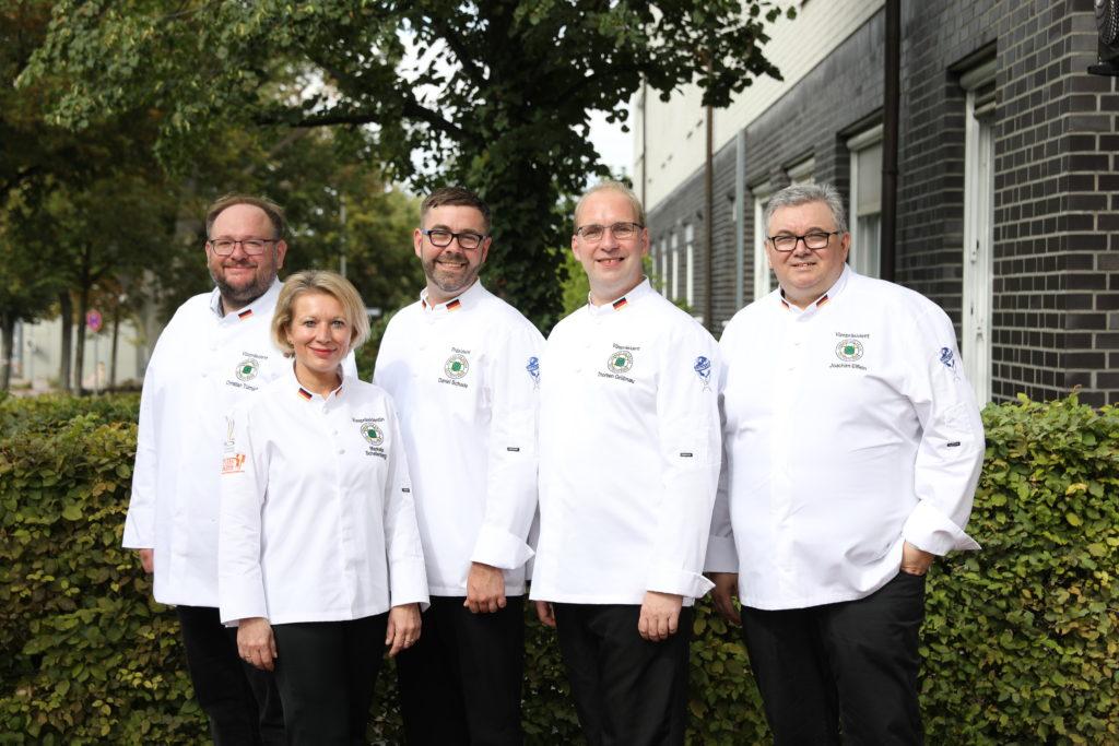 Das neue VKD-Präsidium (v.l.n.r): Christian Türnich, Marketa Schellenberg, Daniel Schade, Thorben Grübnau und Joachim Elflein. Foto: VKD/Ingo Hilger